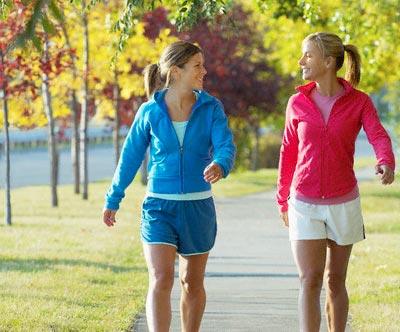 caminhada para perder a barriga